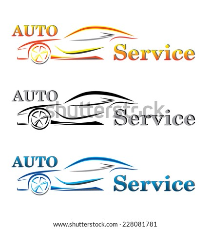 The silhouette of the sport car - stock vector