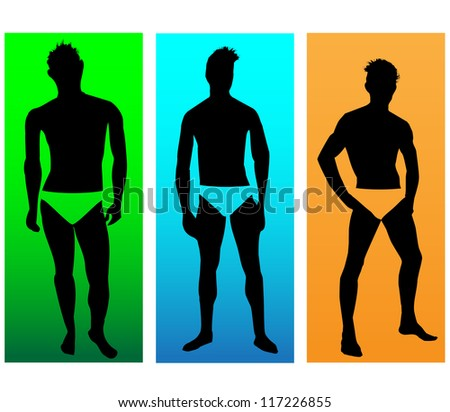 The silhouettes of men models.Vector - stock vector