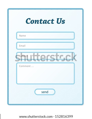 The simple contact form in blue color / Contact form / Contact Us