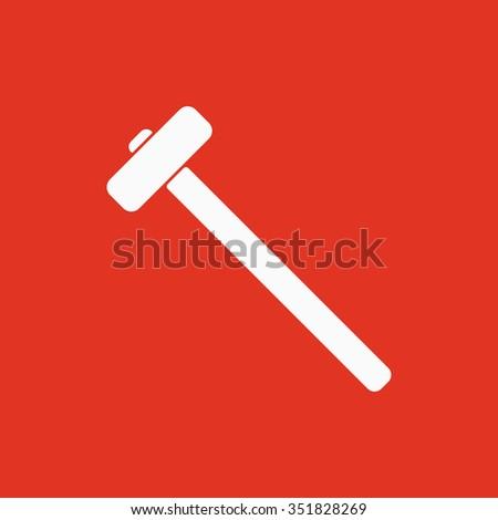 The sledgehammer icon. Sledgehammer symbol. Flat Vector illustration - stock vector