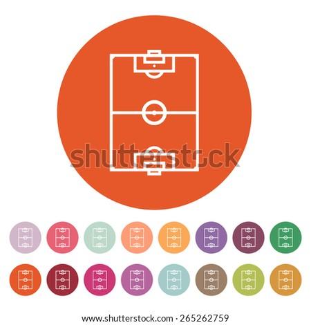 The soccer ball icon. Football symbol. Flat Vector illustration. Button Set - stock vector