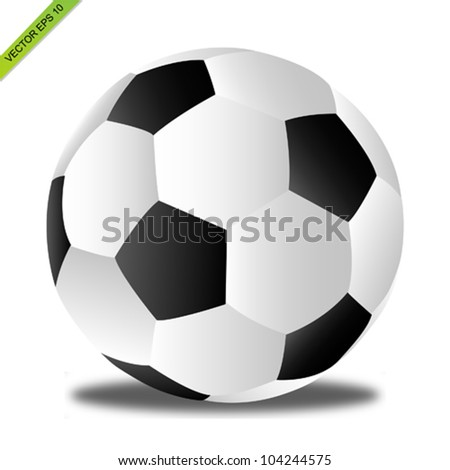 The soccer ball vector