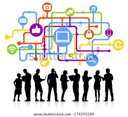 The Social Media Connection Vector