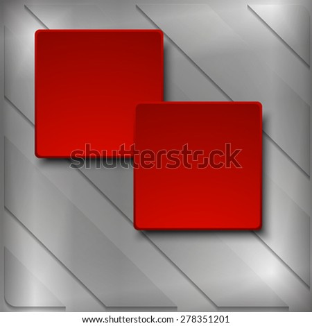 The squares on the metallic background