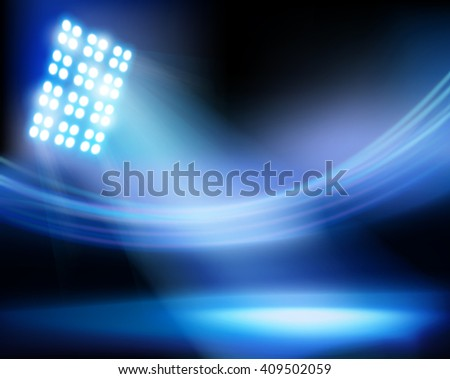 The stadium before the match. Vector illustration. - stock vector