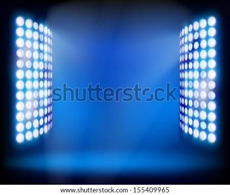 The Stadium light towers. Vector illustration. - stock vector