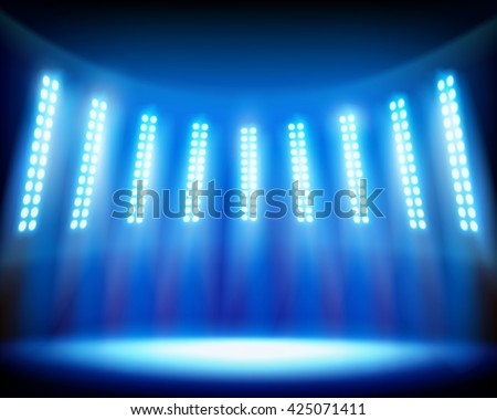 The stadium. Vector illustration. - stock vector