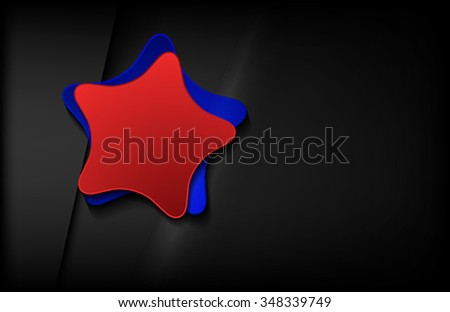 The star banner on black background
