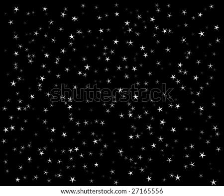 The star vector night sky - stock vector