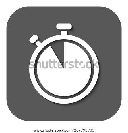 The stopwatch icon. Countdown symbol. Flat Vector illustration. Button - stock vector