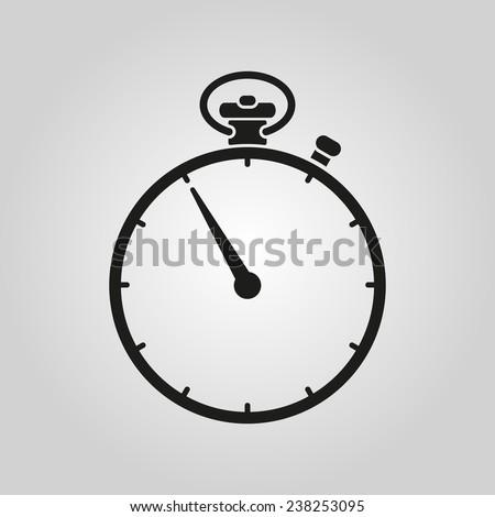 The stopwatch icon. Stopwatch symbol. Flat. Vector illustration - stock vector