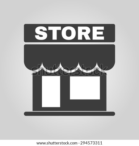The store icon. Shop and retail, market symbol. Flat Vector illustration - stock vector