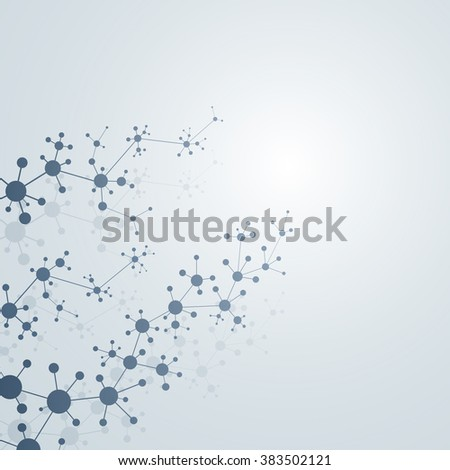 The structure of the DNA molecule and neurons. Connection structure. Vector illustration. Science Vector for your design. EPS 10.
