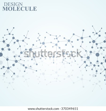 The structure of the DNA molecule and neurons. Science Vector for your design.