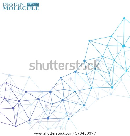The structure of the DNA molecule and neurons. Science Vector for your design. - stock vector