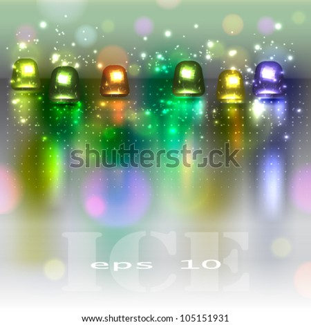 The stylish set twinkling buttons. Abstract vector background - stock vector
