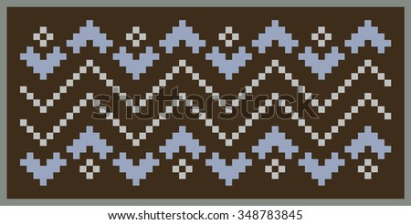 The stylized image of snake skin. Pattern on the theme of the winter with a picture of the Norwegian patterns. Wool knitted texture. To design invitations, flyers, banners. Vector Illustration