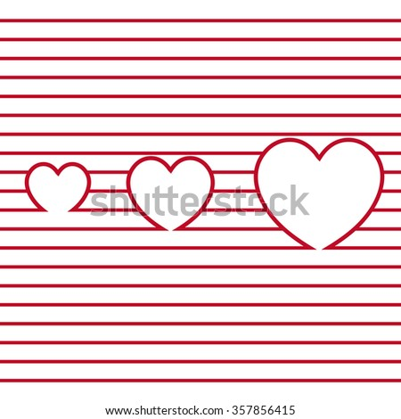 The stylized Valentine's day logo is divided into red tone slices.