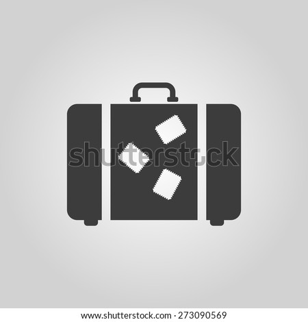 The suitcase icon. Luggage symbol. Flat Vector illustration - stock vector