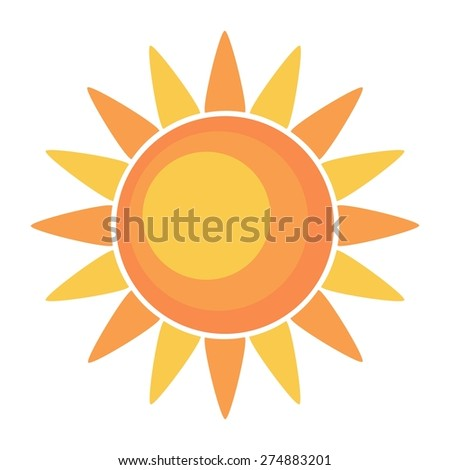 The sun vector illustration - stock vector