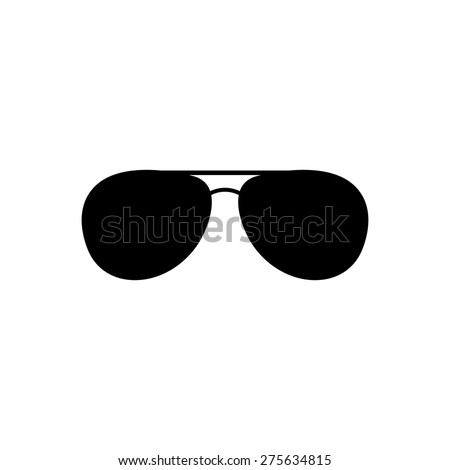 The sunglasses icon. Glasses symbol. Flat Vector illustration - stock vector