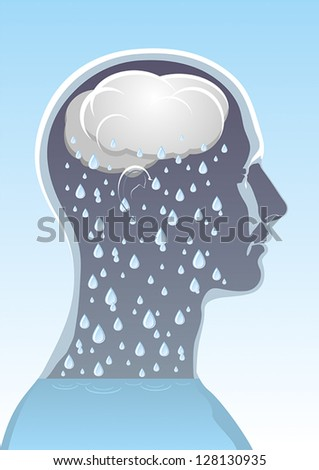 The symbolic image of mental health - stock vector