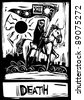 The tarot card for death number thirteen. - stock photo