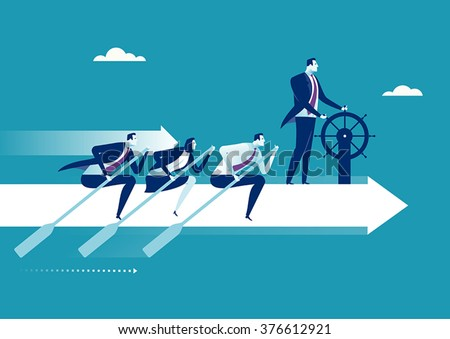 The Team. Business concept illustration - stock vector