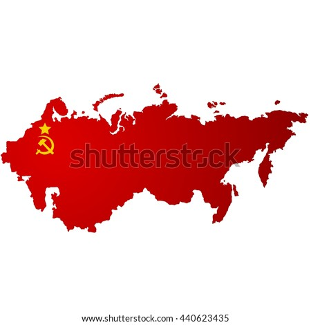 The territory of the Soviet Union. The illustration on a white background.
