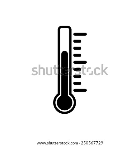The thermometer icon. Thermometer symbol. Flat Vector illustration - stock vector