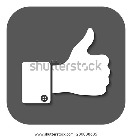 The thumb up icon. Like symbol. Flat Vector illustration. Button - stock vector