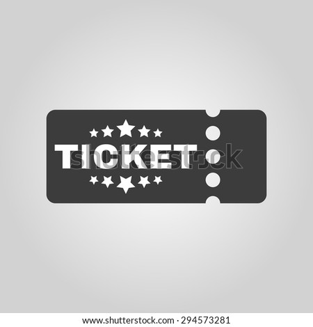 The ticket icon. Ducket and seat, tkt symbol. Flat Vector illustration - stock vector