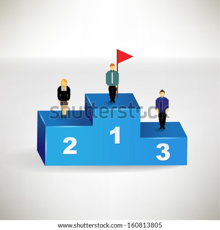 The top three business winner conceptual vector design - stock vector