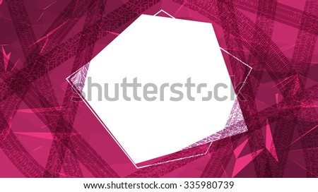 The tracks of tyres on the abstract geometric background with copy space. - stock vector