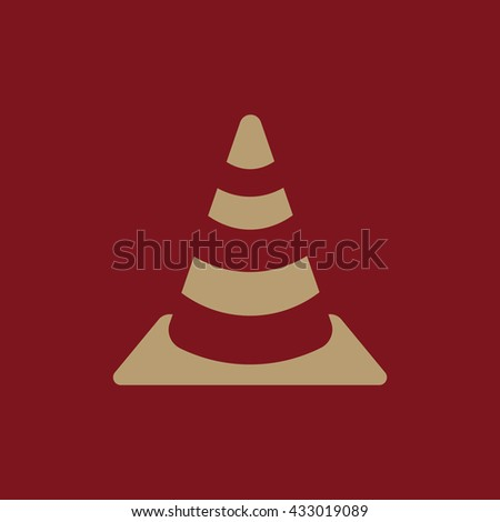 The traffic cone icon. Safety and attention, danger, warning symbol. Flat Vector illustration - stock vector