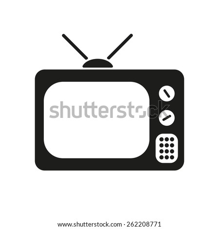 The tv icon. Television symbol. Flat Vector illustration - stock vector