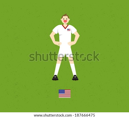 the United States Soccer Tables - stock vector