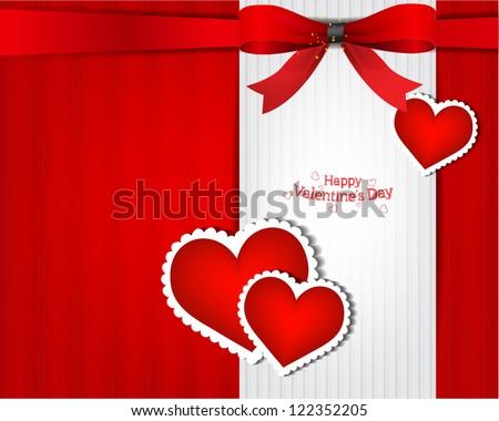 The Valentine s day  Invitation card - stock vector