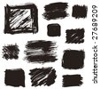 The various squares that I drew with a brush - stock vector