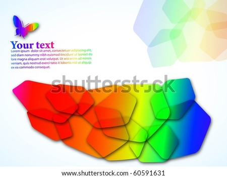 the vector abstract color background eps 10 - stock vector