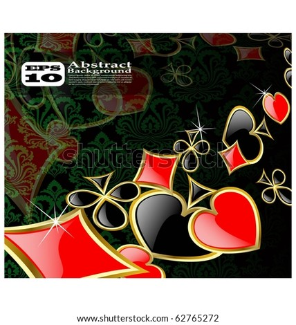 the vector abstract play card background eps 10