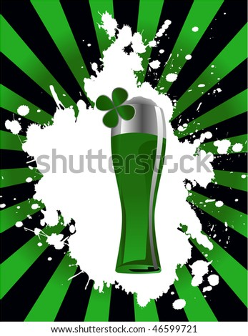 the vector glass of beer - stock vector