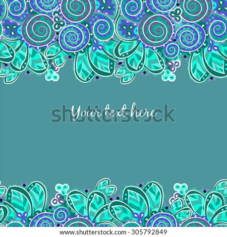 The vector illustration of a seamless wallpaper with abstract leaves