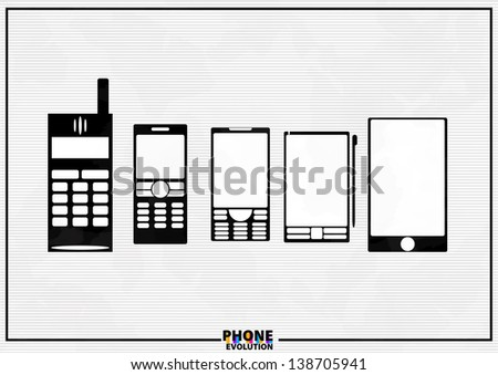 the vector illustration of phone - stock vector