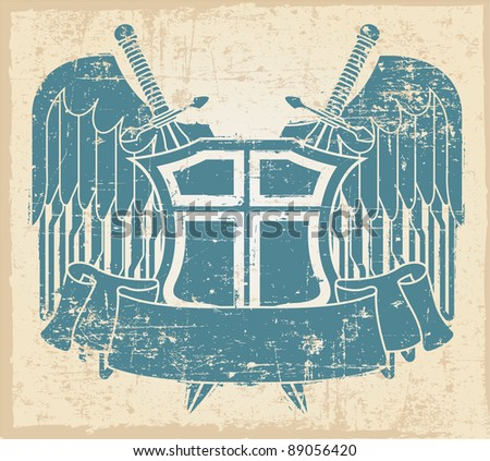 The vector image of Vintage stamp - stock vector