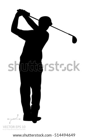 the vector of golf player