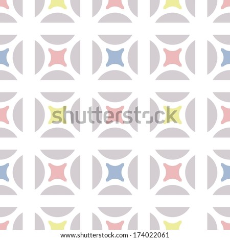 the vector pattern with ellipse and hemisphere - stock vector