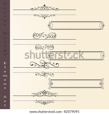 the vector set of design elements in vintage style - vector illustration - stock vector