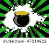 the vector st.patrick day pot of gold - stock vector