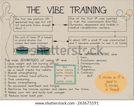 The Vibe training information. - stock vector